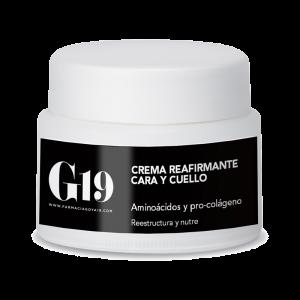 G19 CREMA REAFIRMANTE CARA Y CUELLO COLÁGENO 50ML